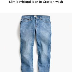 J. Crew slim boy jean Crestor wash